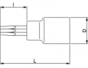 Торцевая головка с отверткой под винты TORX® чертеж