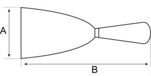 Скребки с двухкомпонентной рукояткой чертеж
