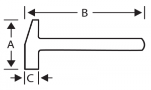 Молоток-гвоздодер, рукоятка из фибергласса чертеж