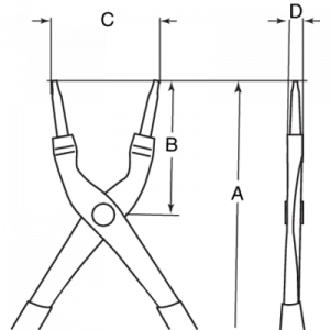 Съемники внешних стопорных колец чертеж