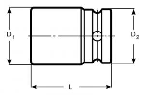 Торцевые головки шестигранные, метрические размеры чертеж