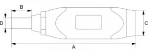 Регулируемая динамометрическая отвертка с оконной шкалой и защитой от статического электричества чертеж