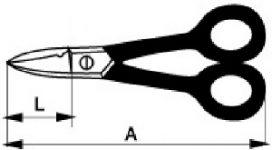 Ножницы для электриков чертеж