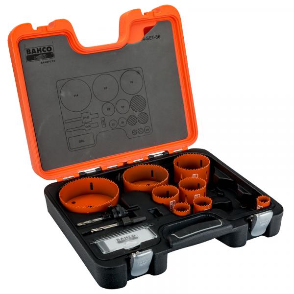 Наборы биметаллических кольцевых пил Sandflex 3834-SET-86