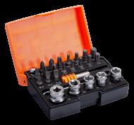 Набор стандартных бит для отверток с держателем бит, торцевыми головками размером 1/4 дюйма и храповиком, 26 предметов