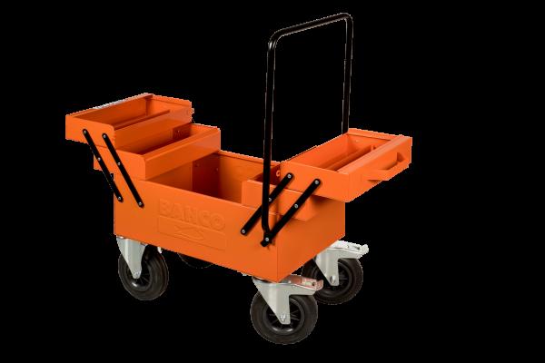 металлический ящик на колесах для инструментов