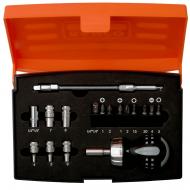 Набор из отвертки с короткой рукояткой и торцевыми головками 808050S-18