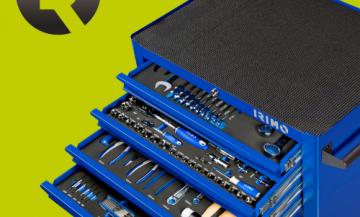 Тележка с 7 ящиками и набором инструментов 9066K7FF102 со скидкой!