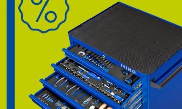 Тележка с 6 ящиками и набором инструментов 9066K6FF100 со скидкой!